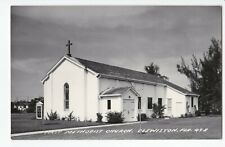 Vintage Real Photo Postcard RPPC First Methodist Church Clewiston Florida 49-A