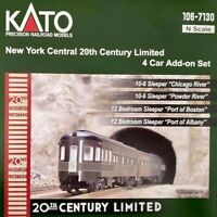 KATO 1067130 N New York Central 20th Century Limited NYC 4 CAR SET 106-7130