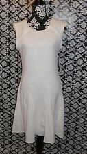 $350 New Rebecca Taylor texture Novelty dress sz 8 ivory knee length