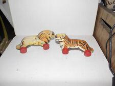Altes Zubehör-Tiere auf Rollen-Deko-Puppe-Bär