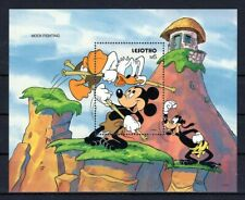 LESOTHO 1991 MOCK FIGHTING MICKEY DISNEY ANIMATION CARTOONS STAMPS MNH