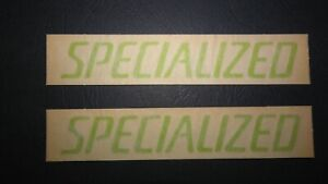 2 NOS AUTHENTIC SPECIALIZED GREEN BIKE FRAME STICKERS / DECALS