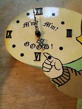 New listing mm mm good wood clock Campbell's soup