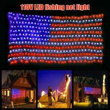 LED Flag Net Lights American Flag Light For Festival Indoor Outdoor Decoration