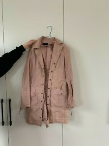 Patrizia Pepe Dusty Pink Trench Coat. Size 42. Button up with collar