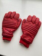 Vintage Leather Skiing Gloves Grandoe Mens Large Red