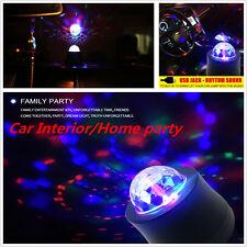 Car Music Rhythm Sound Activated LED Interior Light DJ Disco Flash Lamp Colorful