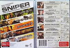 SNIPER COLLECTION (1993)/2/3/Legacy/Reloaded DVD set R4 TOM BERENGER oz seller
