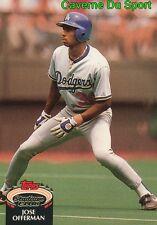 378  JOSE OFFERMAN  LOS ANGELES DODGERS TOPPS BASEBALL CARD STADIUM CLUB 1992