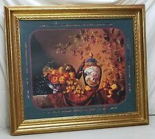 """Home Interior Homco""""An Elaborate Display""""Fruit""""V ase; Birds & Flowers Picture Ds"""
