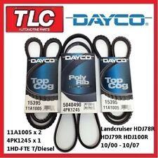 Dayco Fan Belt Kit (3 Belts) Landcruiser HDJ78R HDJ79R HDJ100R 1HD-FTE T/Diesel