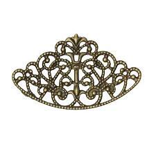 10pc 6.5cm large antique bronze filigree fancy wraps-8397