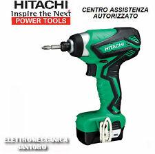 "Avvitatore ad impulsi Wh10dal Hitachi 2 Batterie 10 8v 1 5ah 1/4""esag. rapido"