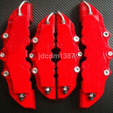 4Pcs 3D Style Front and Rear Universal Plate Red Car Brake Caliper Cover