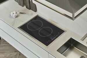 AREBOS Glaskeramikkochfeld autark Kochfeld Sensor Touch 2 Platten 3000 W Schwarz