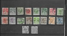 Denmark 1905-1921. Selection Of 18. Used. As Per Scan