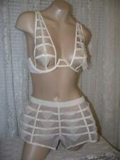 La Perla Donna Agata Collection 34B S Sheer Panel Bra Culotte Set Nude New
