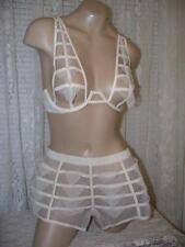 La Perla Donna Agata Collection 34B S Sheer Panel Bra Culotte Set Nude New