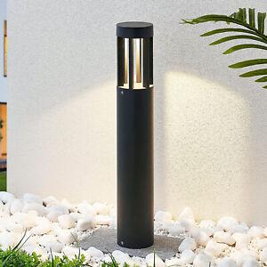 LED-Wegelampe Jordis Rund Dunkelgrau Aluminium Lampenwelt Pollerleuchte Garten