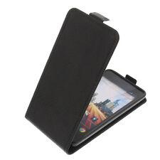 ETUI pour Archos 45 B hélium à Clapet Housse portable COQUE FLIP CASE Noir