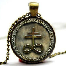 Pentagram Pendant Glass Dome Leviathan Cross Baphomet Lucifer Inverted