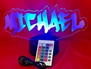 Name Light Up Lamp any name Lamp LED With Remote Personalized Graffiti Name