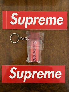 Brand New Red Supreme Lighter Case And 2 Stickers Box Logo Deadstock