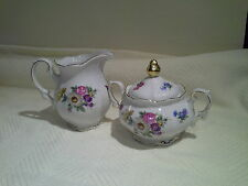 Vintage Mitterteich Meissen Floral Bavaria Germany Creamer and Sugar Set