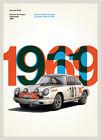 Porsche 911R Vintage Race Poster