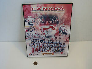 """2002 TEAM CANADA OLYMPIC GOLD MEDAL CHAMPIONS LIMITED EDITION WALL PLAQUE 10"""""""