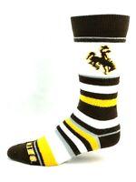 Wyoming Cowboys For Bare Feet Women's Soft Stripe Crew-Length Socks