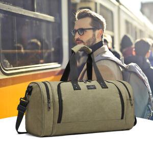 Men's Large Holdall Bag Gym&Sports Duffle Bag Canvas Travel Weekend Shoulder Bag