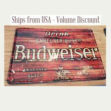 Budweiser Sign Budweiser Metal Sign Budweiser Man Cave Sign Budweiser Gifts Tin