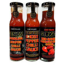Salsa di peperoncino-Venom CAROLINA REAPER-FANTASMA Fantasma & STINGER Red Savina Salsa