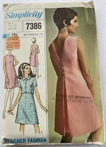 Simplicity 7386 Pattern-Misses' Dress & Jacket-Designer Fashion, Sz 16