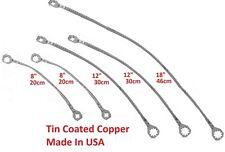 "(Multi Kit) Universal 8""+12""+18"" Copper Ground/Bonding Straps, Tin/Zinc-Plated"