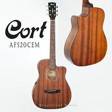 CORT AF520 CEM ACOUSTIC/ELECTRIC GUITAR. MAHOGANY SATIN FINISH