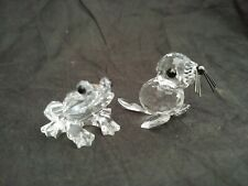 New ListingSwarovski Crystal Figurine Baby Seal and Frog
