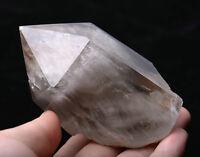 239g Natural white Rabbit Hair Quartz Crystal Polished point Specimen