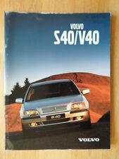 VOLVO S40 & V40 orig 2000 UK Mkt prestige sales brochure