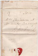 * 1779 PORT GLASGOW CIRC PMK LETTER WILLIAM WOOD TO MRS HENDERSON IN EDINBURGH