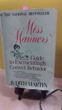 Miss Manners' Guide To Excruciatingly Correct Behavior Judith Martin(FC3-5)