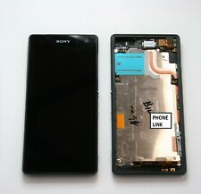 Sony Xperia Z2 D6502 D6503 Black/White LCD Touch Screen Digitizer Wth Back Cover