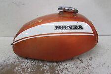 HONDA SL 350 SL350 GAS FUEL TANK 70 71 72 73 ORIGINAL PAINT W CAP EMBLEMS ORANGE