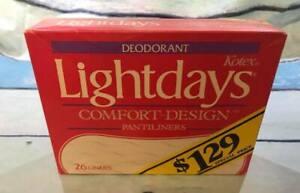 1983 Vintage Collectible Kotex Light Days Comfort Liners Pads NOS Movie Prop 26