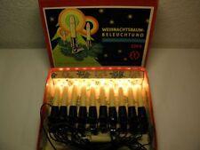 Ancienne Guirlande lumineuse 10 pièces DDR Éclairage du sapin de Noël Chandelles