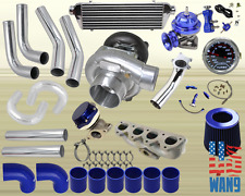 Honda Prelude Vtec H22A T3/T4 Turbocharger Turbo Kit Blue+Manifold+Bov+Wg+Gauge