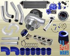 Honda Prelude Vtec H22A T3/T4 Turbocharger Turbo Kit Blue+Manifold+Bov+Wg+Gauge