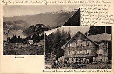 Hergiswil, Pension u. Sommerwirtschaft Alpgschwänd am Pilatus, 1912