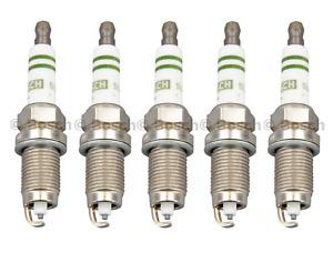 Spark Plugs Super Plus OEM Bosch Volkswagen Golf Jetta Beetle 2.0L 2.5L (5pcs)